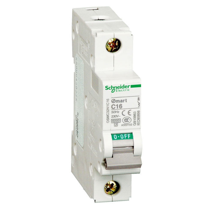 6kA Electric Circuit Breaker , 2 Pole Circuit Breaker 1~63A 1P 3P 4P 1P+N